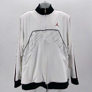Jordan XX2 Black & White Zipper Track Jacket L